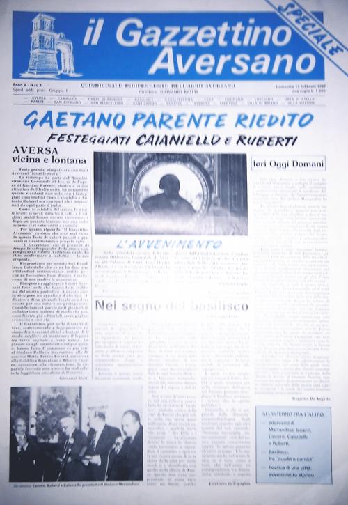 Il Gazzettino Aversano, Anno V, N.ro 3, direttore Giovanni Motti, domenica 15 febbraio 1987